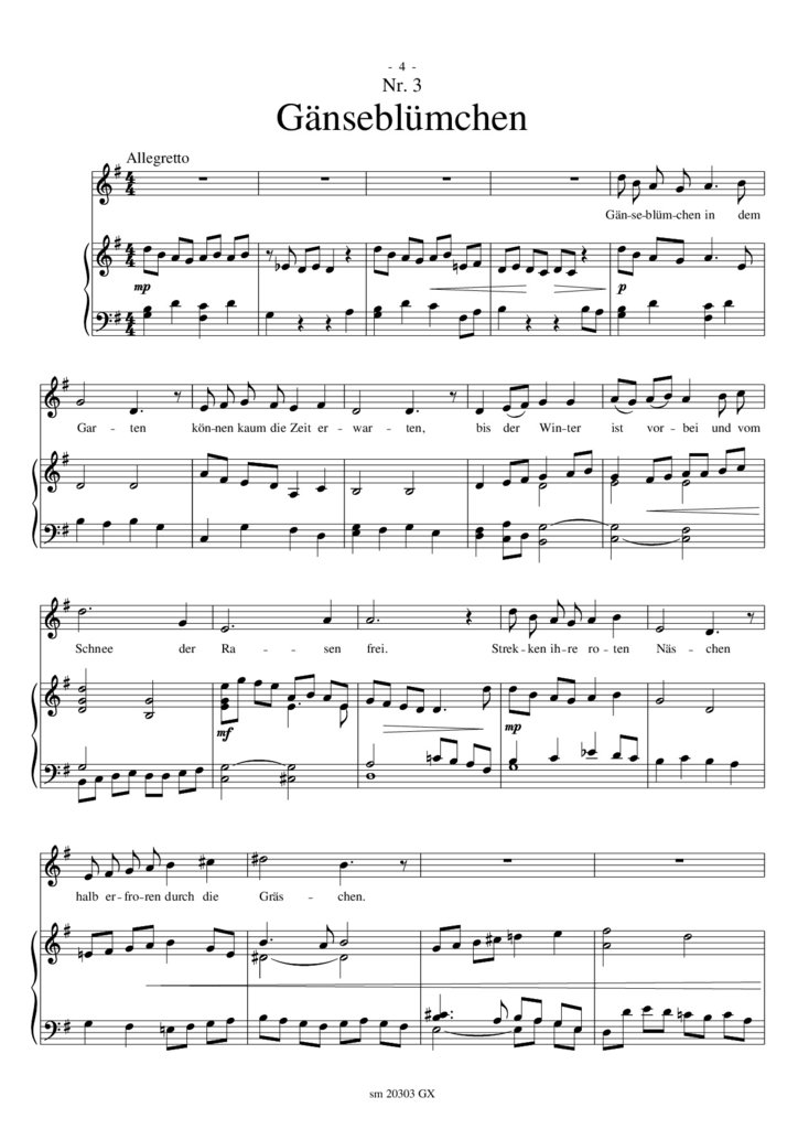 Gänseblümchen Lied